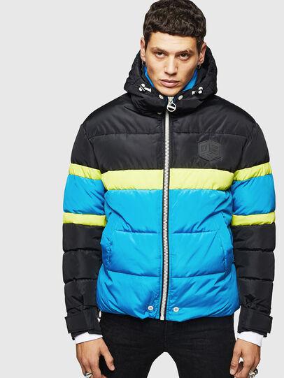Diesel - W-MARTOS, Black/Blue - Winter Jackets - Image 1
