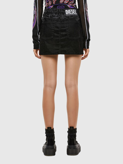 Diesel - DE-FREESIA-SP, Black - Skirts - Image 2