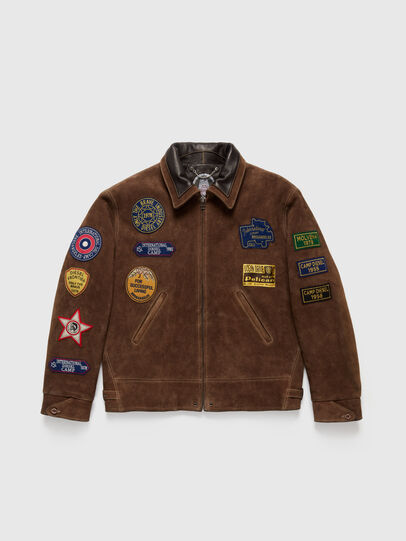 Diesel - DxD-3, Brown - Leather jackets - Image 1