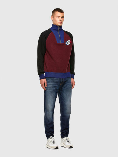 Diesel - K-PHIL, Black/Red - Knitwear - Image 5