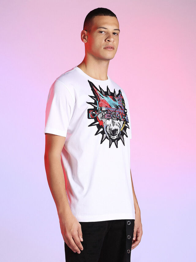 Diesel - LU-T-JUST, White - T-Shirts - Image 6
