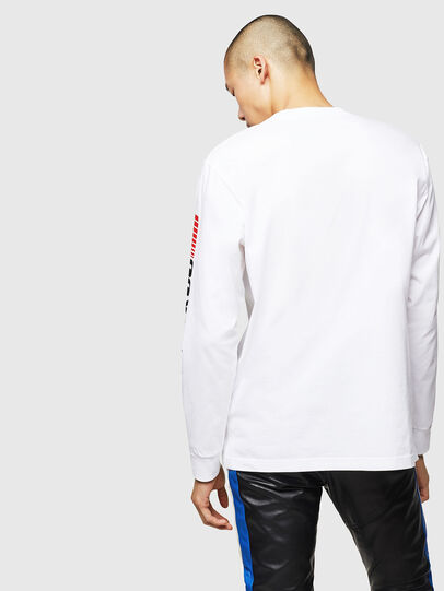 Diesel - ASTARS-T-JUST-LONG, White - T-Shirts - Image 2