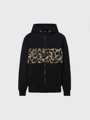 S-GIRK-HOOD-ZIP-TARS, Black - Sweaters