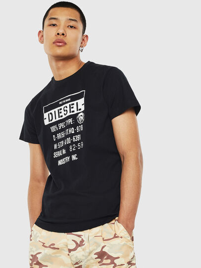 Diesel - T-DIEGO-S1, Black - T-Shirts - Image 1