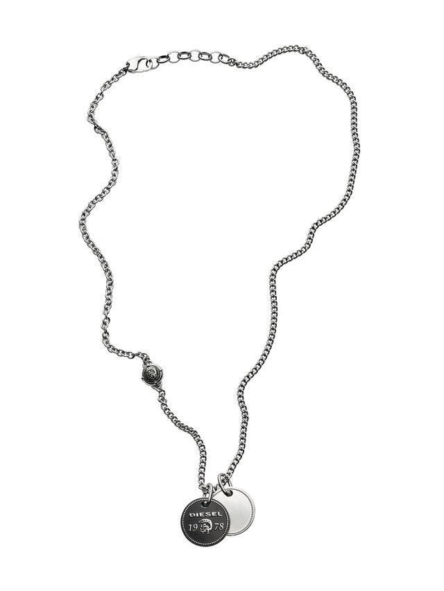 Diesel - NECKLACE DX1091, Silver - Necklaces - Image 1