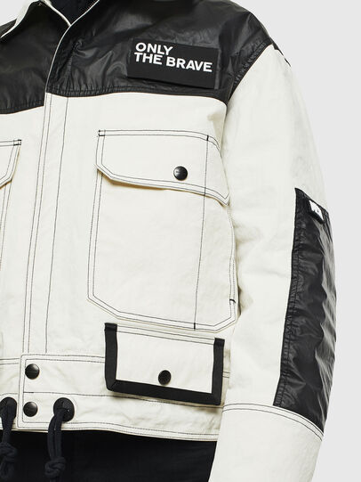 Diesel - J-KENDY, White/Black - Jackets - Image 3
