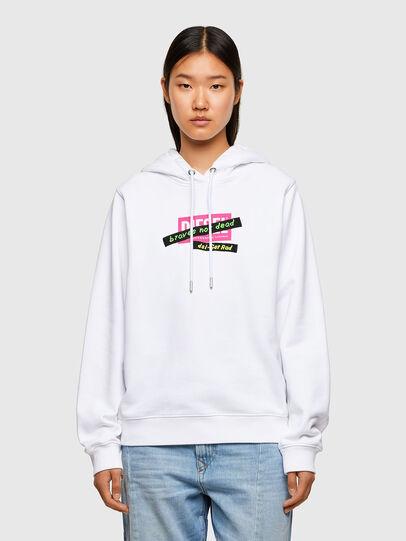 Diesel - F-ANG-HOOD-R20, White - Sweaters - Image 1