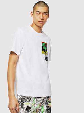 T-JUST-SLITS-J18, White - T-Shirts