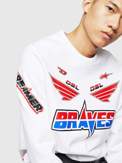 Diesel - ASTARS-S-GIR-A, White - Sweaters - Image 3