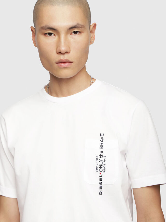 Diesel - T-JUST-POCKET, White - T-Shirts - Image 3
