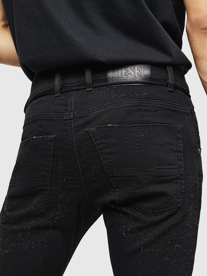 Diesel - Krooley JoggJeans 0092N, Black/Dark grey - Jeans - Image 4