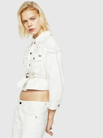 Diesel - DE-CATE, White - Denim Jackets - Image 3