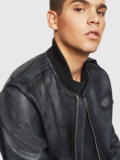 Diesel - L-OIUKI, Black - Leather jackets - Image 3