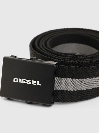 Diesel - B-PLATA, Black/Grey - Belts - Image 2