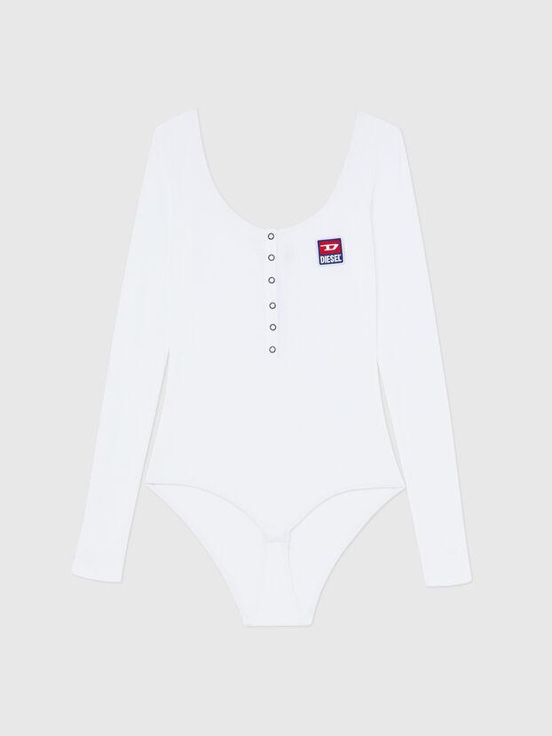 UFBY-BODYBUT-LS-C, White - Bodysuits