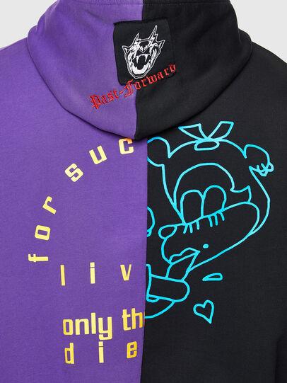 Diesel - S-UMMER-SPLIT-N1, Black/Violet - Sweaters - Image 4