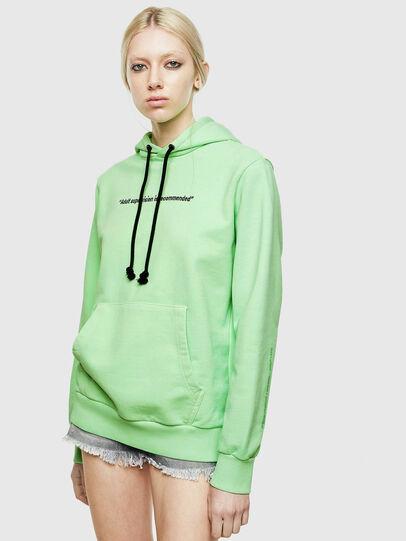 Diesel - S-GIRK-HOOD-FLUO, Green Fluo - Sweaters - Image 2