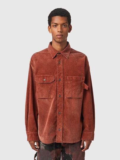 Diesel - S-BUN-CORD, Brown - Shirts - Image 1