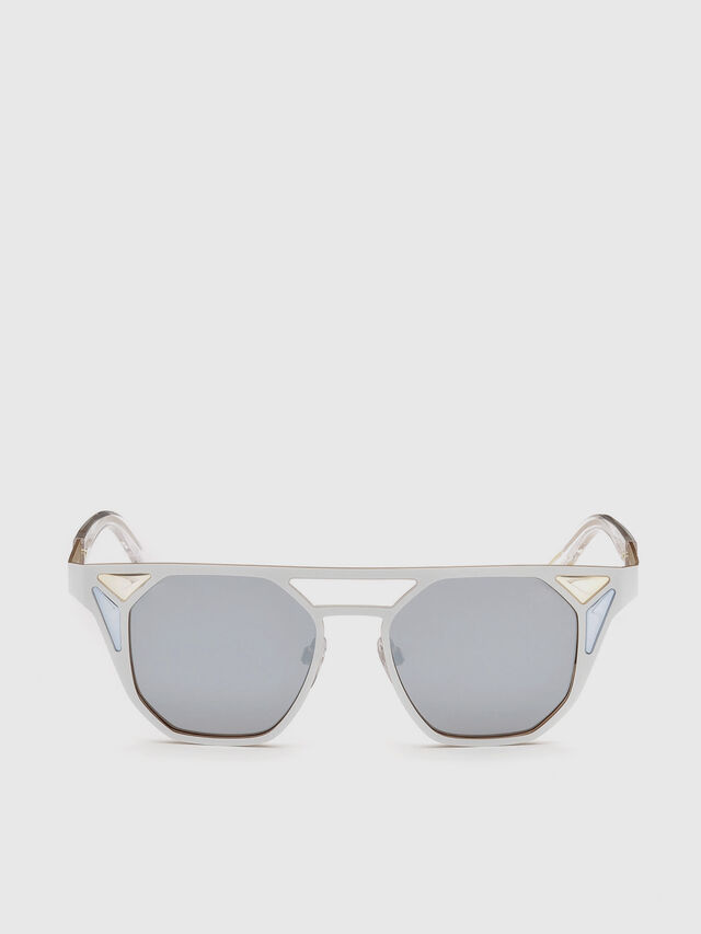 Diesel - DL0249, White - Sunglasses - Image 1