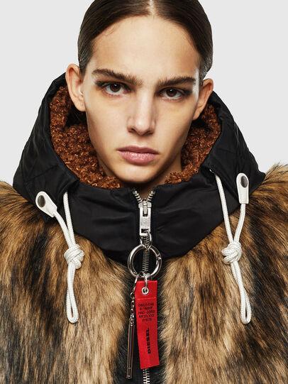 Diesel - L-ALYANA, Black/Brown - Leather jackets - Image 3