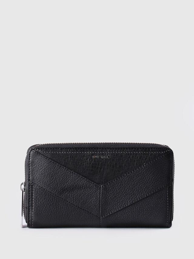 Diesel GRANATO, Black Leather - Zip-Round Wallets - Image 1