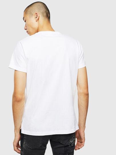 Diesel - T-DIEGO-SLITS-J6, White - T-Shirts - Image 2