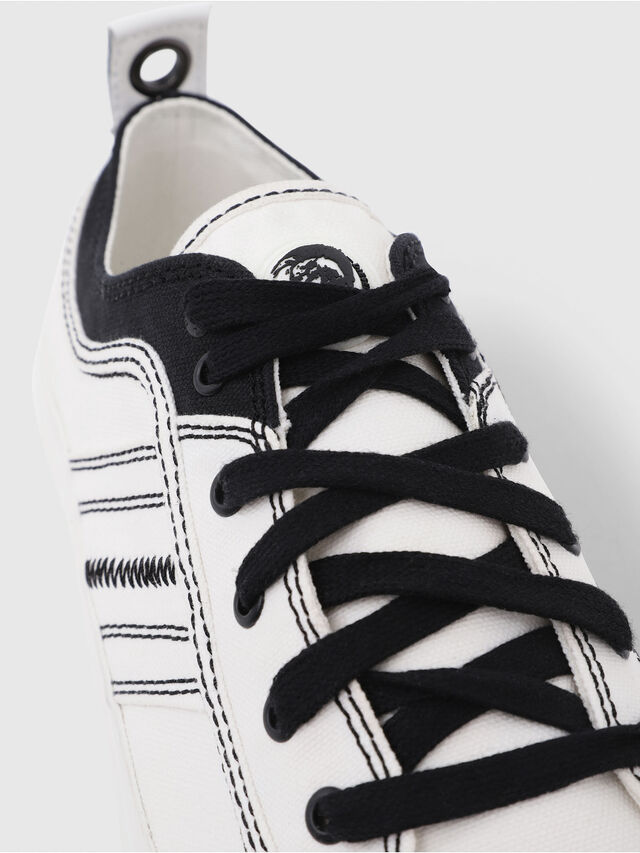 Diesel - S-ASTICO LOW LACE, White/Black - Sneakers - Image 5