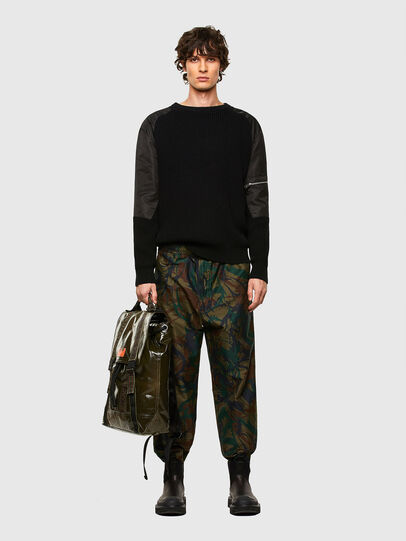 Diesel - MARBACK, Olive Green - Backpacks - Image 7