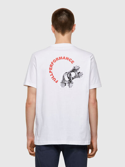Diesel - T-JUST-B55, White - T-Shirts - Image 2