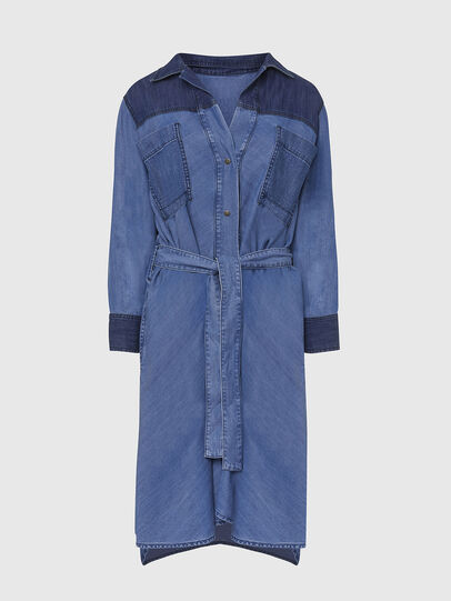 Diesel - DE-NIAVY, Light Blue - Dresses - Image 1