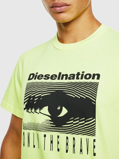 Diesel - T-DIEGO-J4, Yellow Fluo - T-Shirts - Image 5