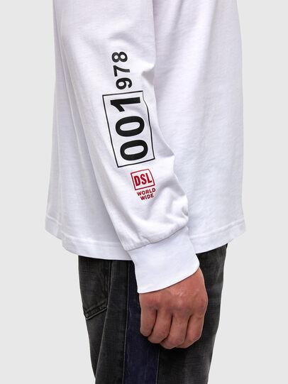 Diesel - T-JUST-LS-N62, White - T-Shirts - Image 3