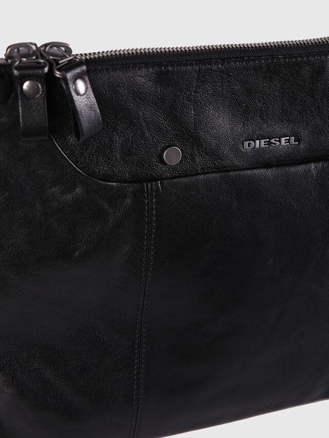 Diesel L-L4CLUTCH, Black Leather - Clutches - Image 4