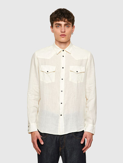 Diesel - S-EAST-LONG-LIN, White - Shirts - Image 1