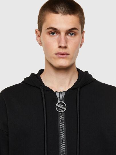 Diesel - S-UMMER-BIGZIP, Black - Sweaters - Image 3