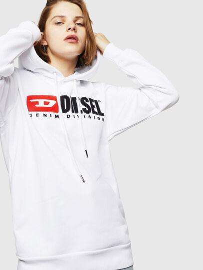 Diesel - F-GIR-HOOD-DIVISION-, White - Sweaters - Image 1