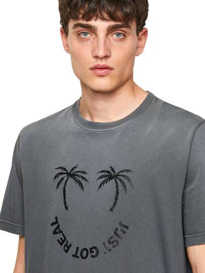 Diesel - T-JUST-B64, Grey - T-Shirts - Image 3