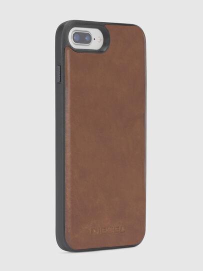 Diesel - BROWN LEATHER IPHONE 8 PLUS/7 PLUS/6s PLUS/6 PLUS CASE,  - Cases - Image 4