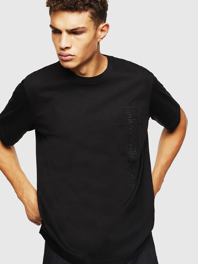 Diesel - T-JUST-POCKET-J1, Black - T-Shirts - Image 4