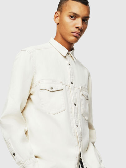 Diesel - D-BANDY-B, White - Denim Shirts - Image 4