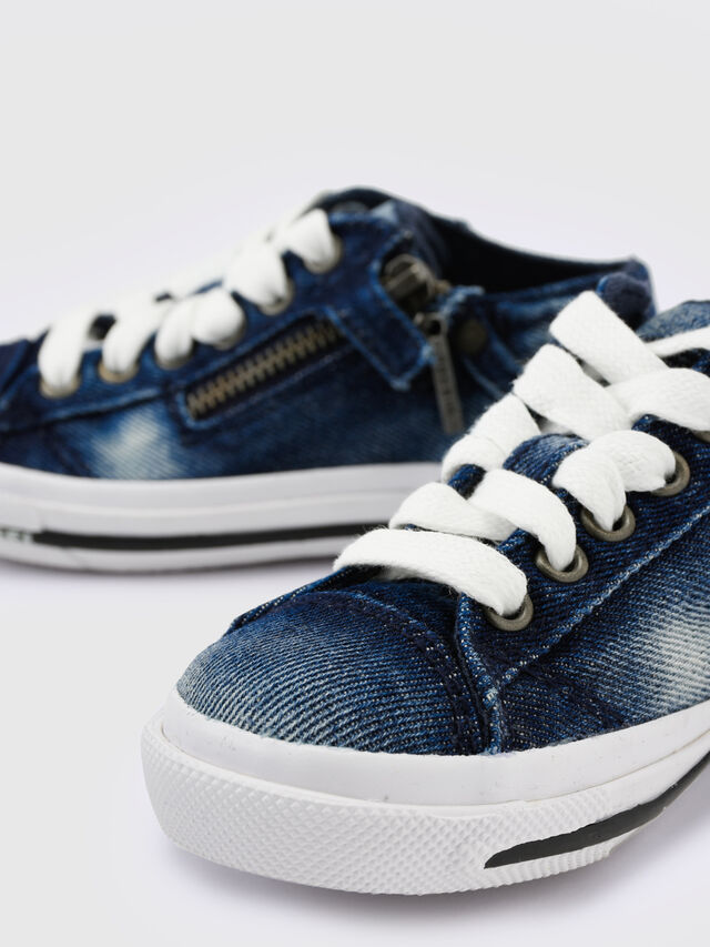KIDS SN LOW 25 DENIM EXPO, Blue Jeans - Footwear - Image 5