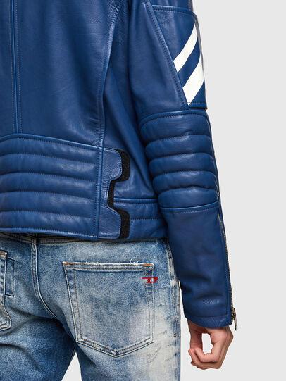 Diesel - L-FULK, Blue - Leather jackets - Image 6