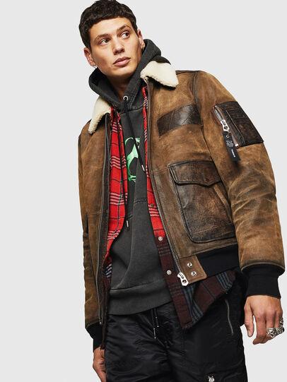 Diesel - L-OIUKIRO,  - Leather jackets - Image 4