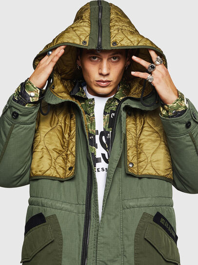 Diesel - W-KOVIK, Military Green - Winter Jackets - Image 5