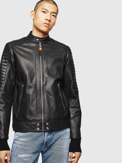 Diesel - L-SHIRO, Black Leather - Leather jackets - Image 1