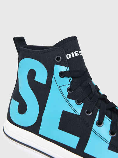 Diesel - S-ASTICO MID CUT, Black/Blue - Sneakers - Image 5