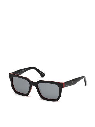 Diesel - DL0253, Black/Red - Sunglasses - Image 4