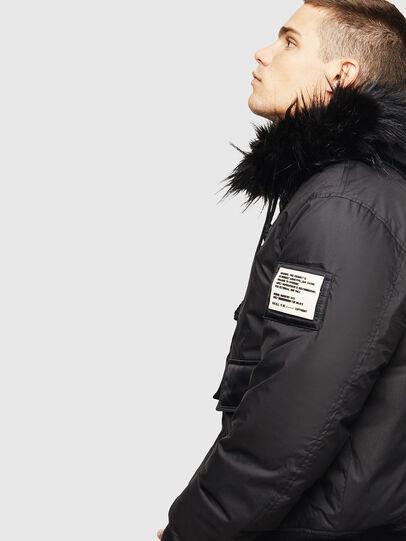 Diesel - W-BURKISK, Black - Winter Jackets - Image 3