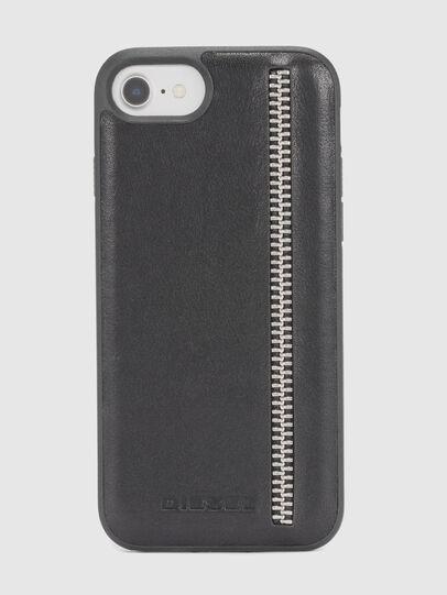Diesel - ZIP BLACK LEATHER IPHONE 8/7/6s/6 CASE,  - Cases - Image 2