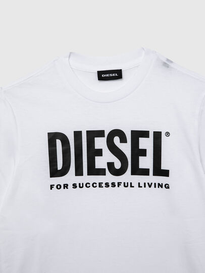 Diesel - TJUSTLOGO ML, White - T-shirts and Tops - Image 3